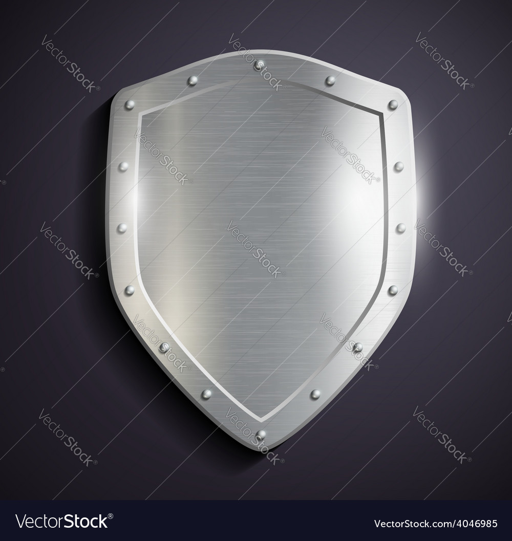 Metal shield vector | Price: 1 Credit (USD $1)