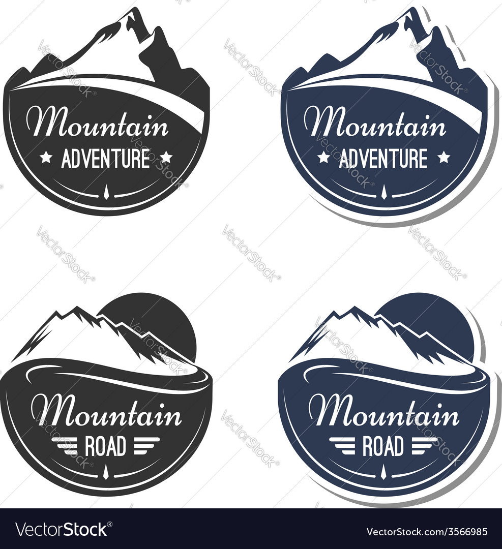 Mountain design elements vector | Price: 1 Credit (USD $1)