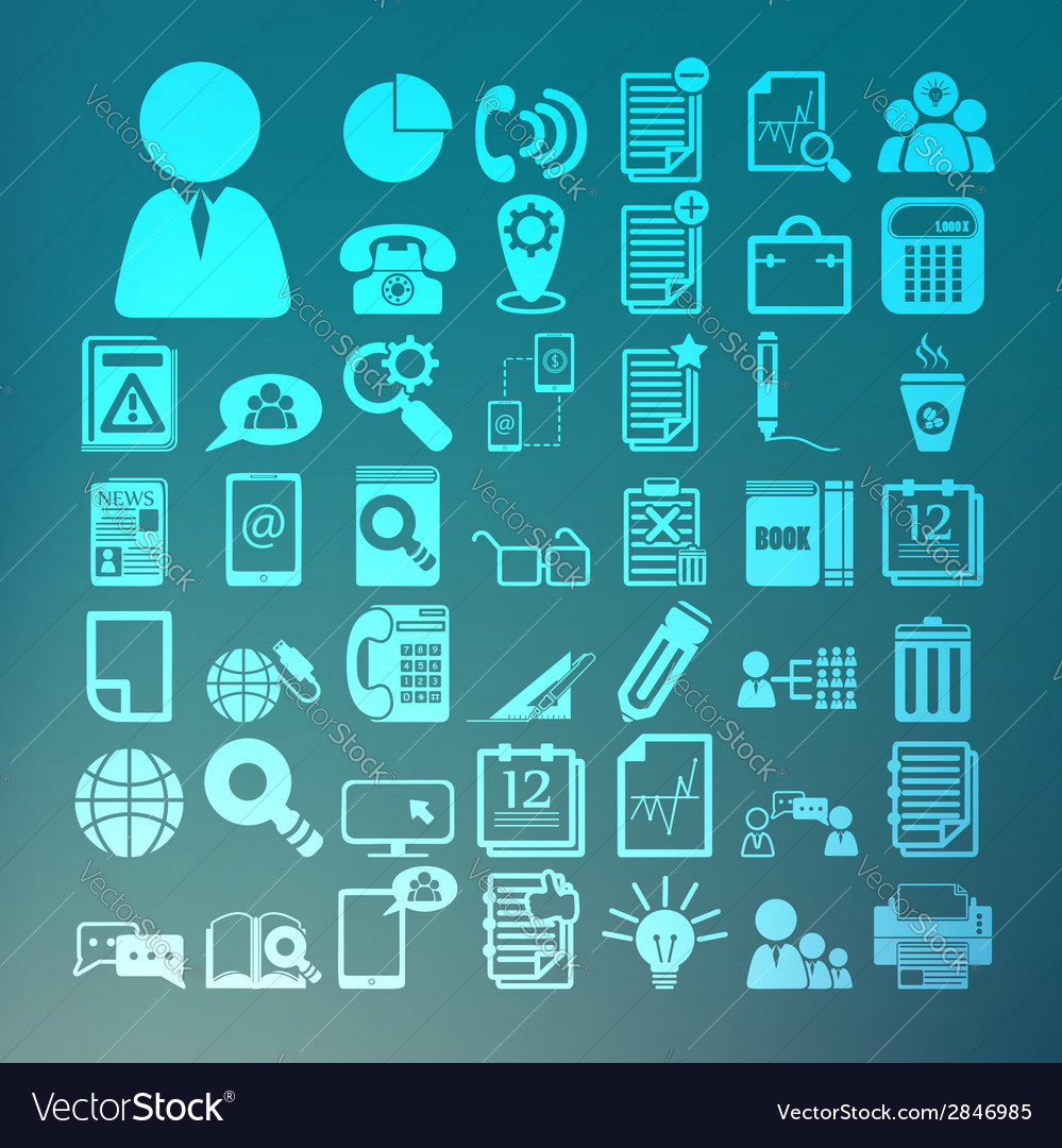 Office icons set retina vector | Price: 1 Credit (USD $1)