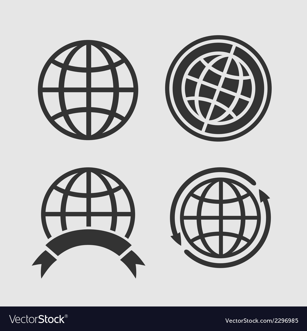 Set of globes vector | Price: 1 Credit (USD $1)