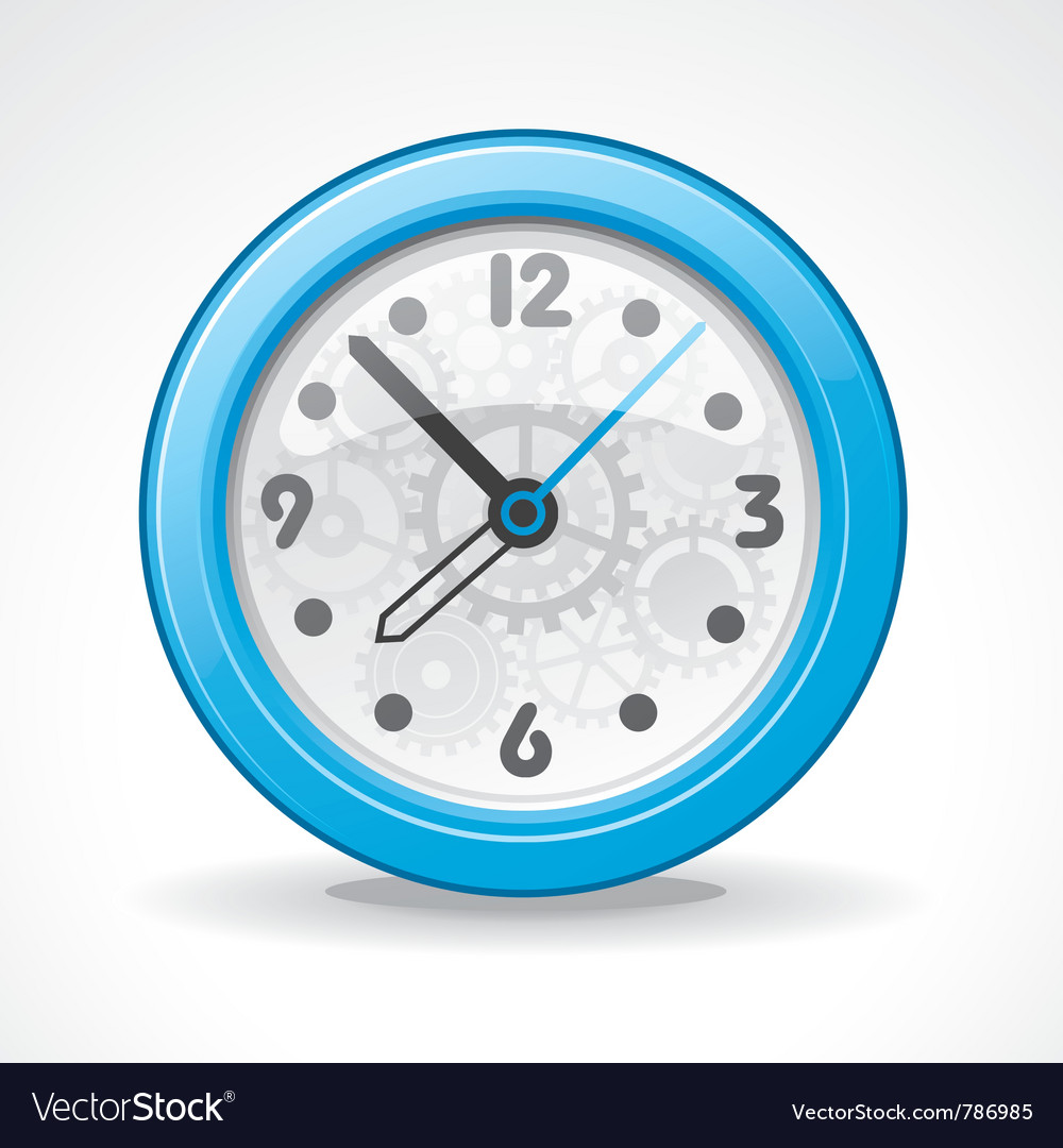Transparent modern clock vector | Price: 3 Credit (USD $3)