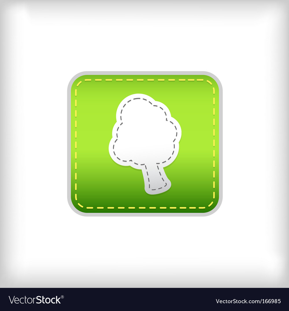 Tree green sticker vector | Price: 1 Credit (USD $1)