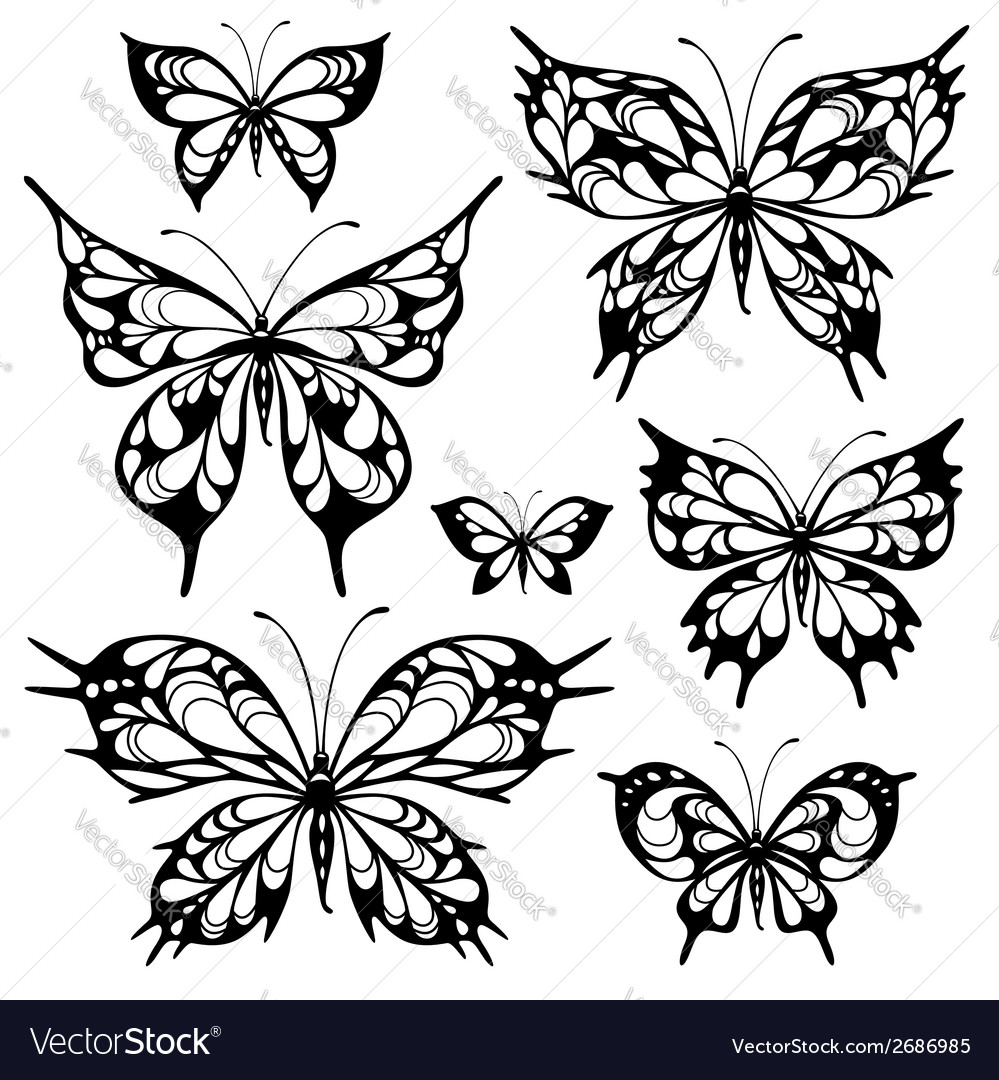 Tribal butterflys vector | Price: 1 Credit (USD $1)