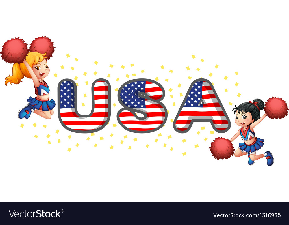 The usa cheerdancers vector | Price: 1 Credit (USD $1)