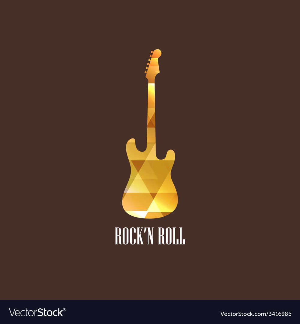 With diamond guitar icon vector | Price: 1 Credit (USD $1)