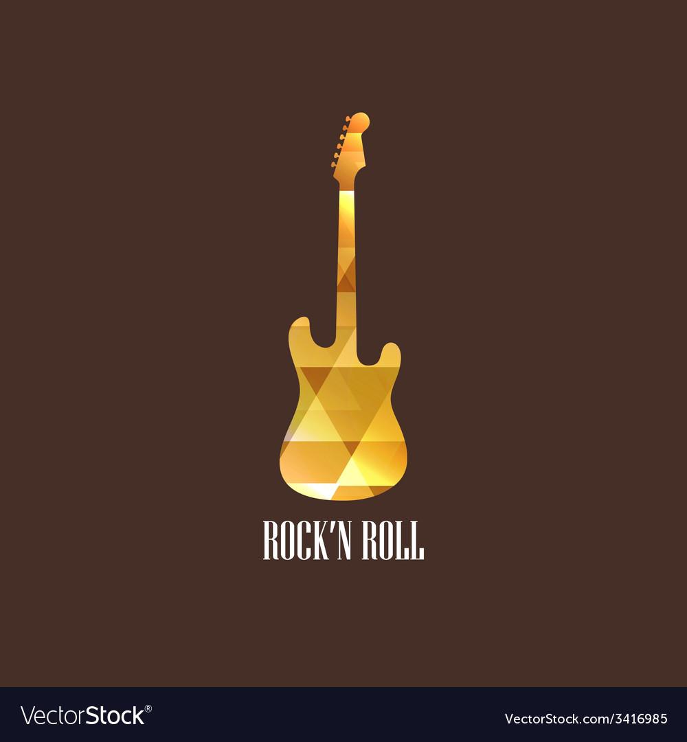 With diamond guitar icon vector | Price: 1 Credit (USD $1)