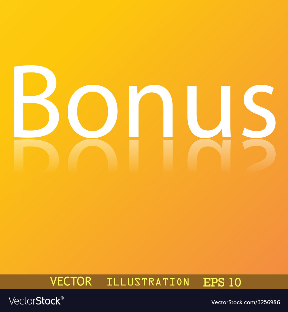 Bonus icon symbol flat modern web design with vector | Price: 1 Credit (USD $1)