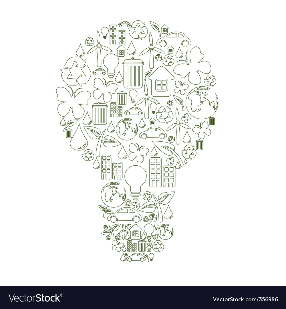 Bulb shape vector | Price: 1 Credit (USD $1)