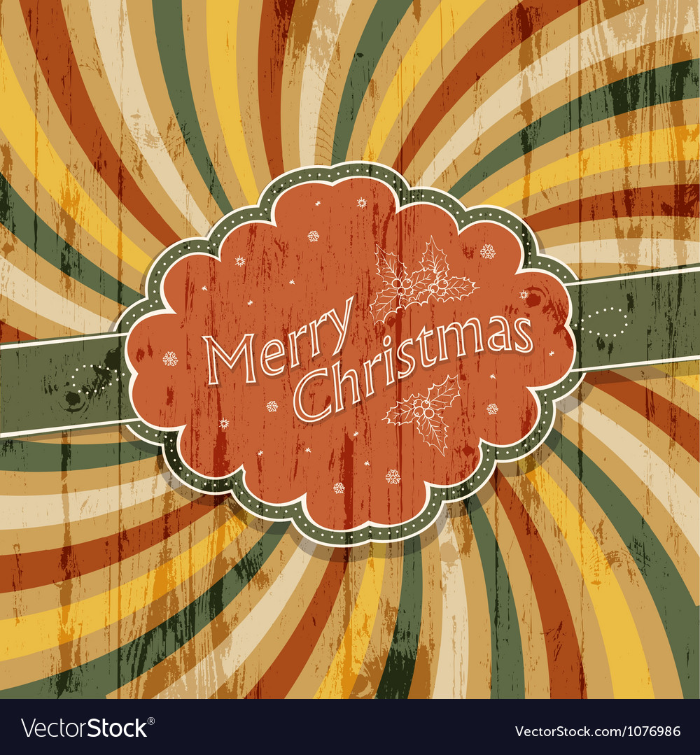 Colorful rays xmas card vector | Price: 1 Credit (USD $1)