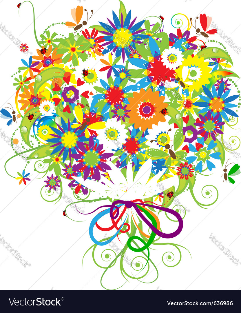 Floral bouquet vector | Price: 1 Credit (USD $1)