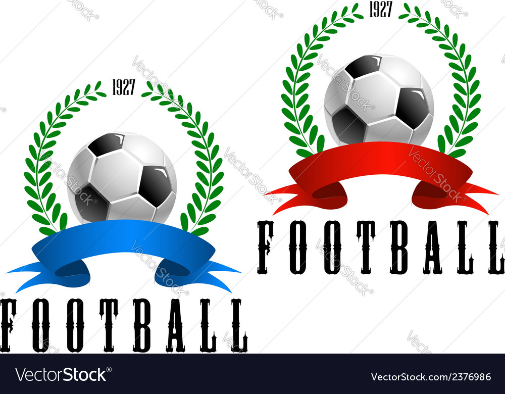 Football or soccer retro emblem vector | Price: 1 Credit (USD $1)