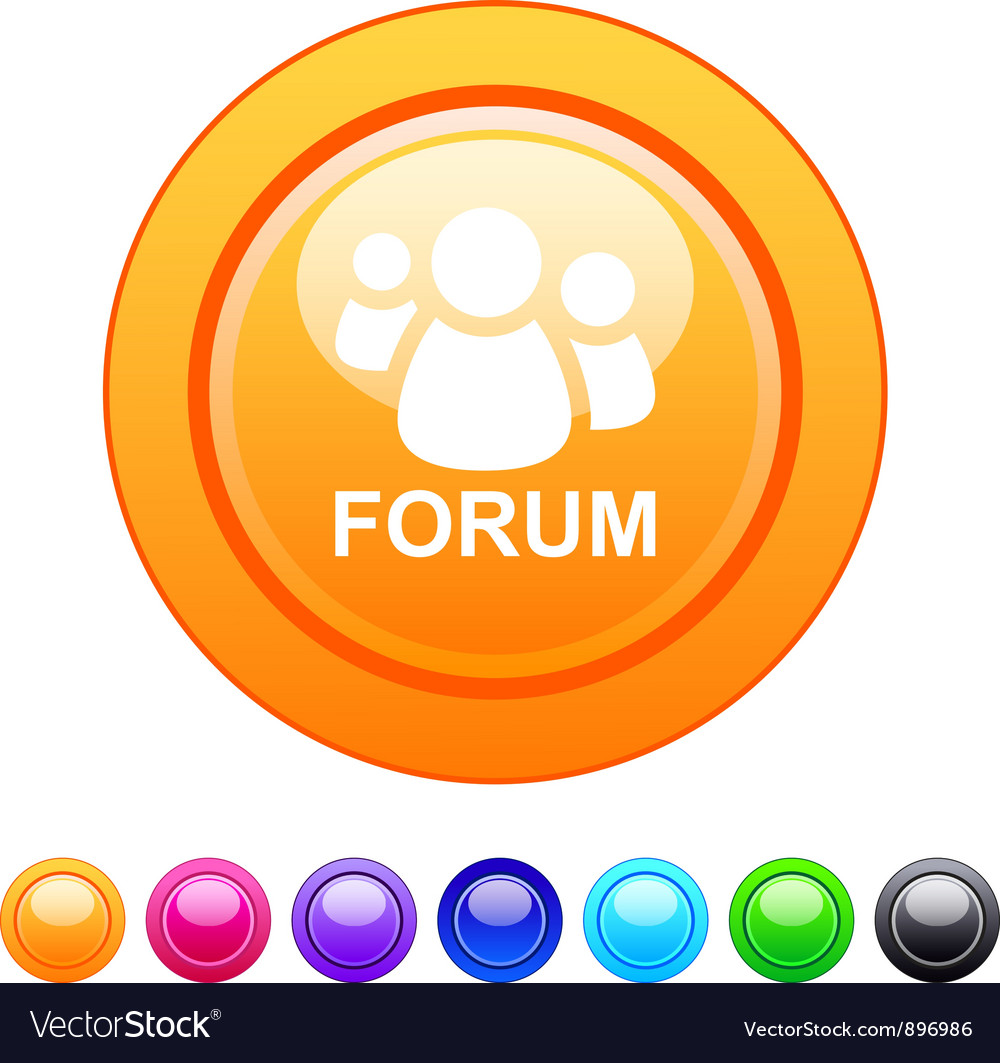 Forum circle button vector | Price: 1 Credit (USD $1)