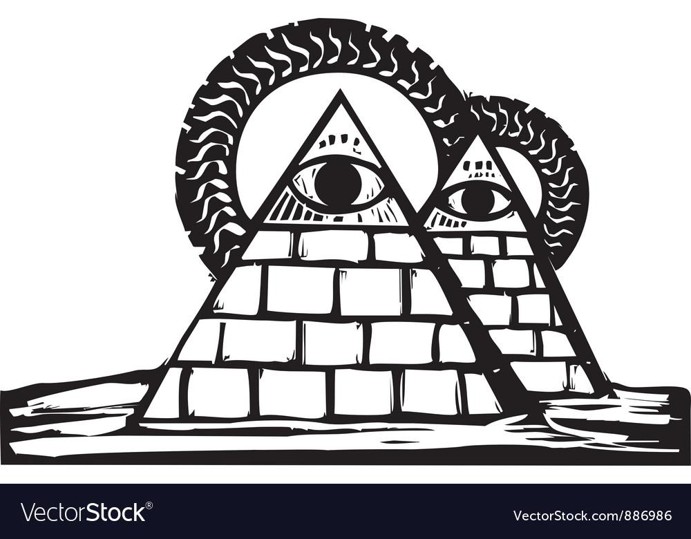 Masonic pyramids vector | Price: 1 Credit (USD $1)