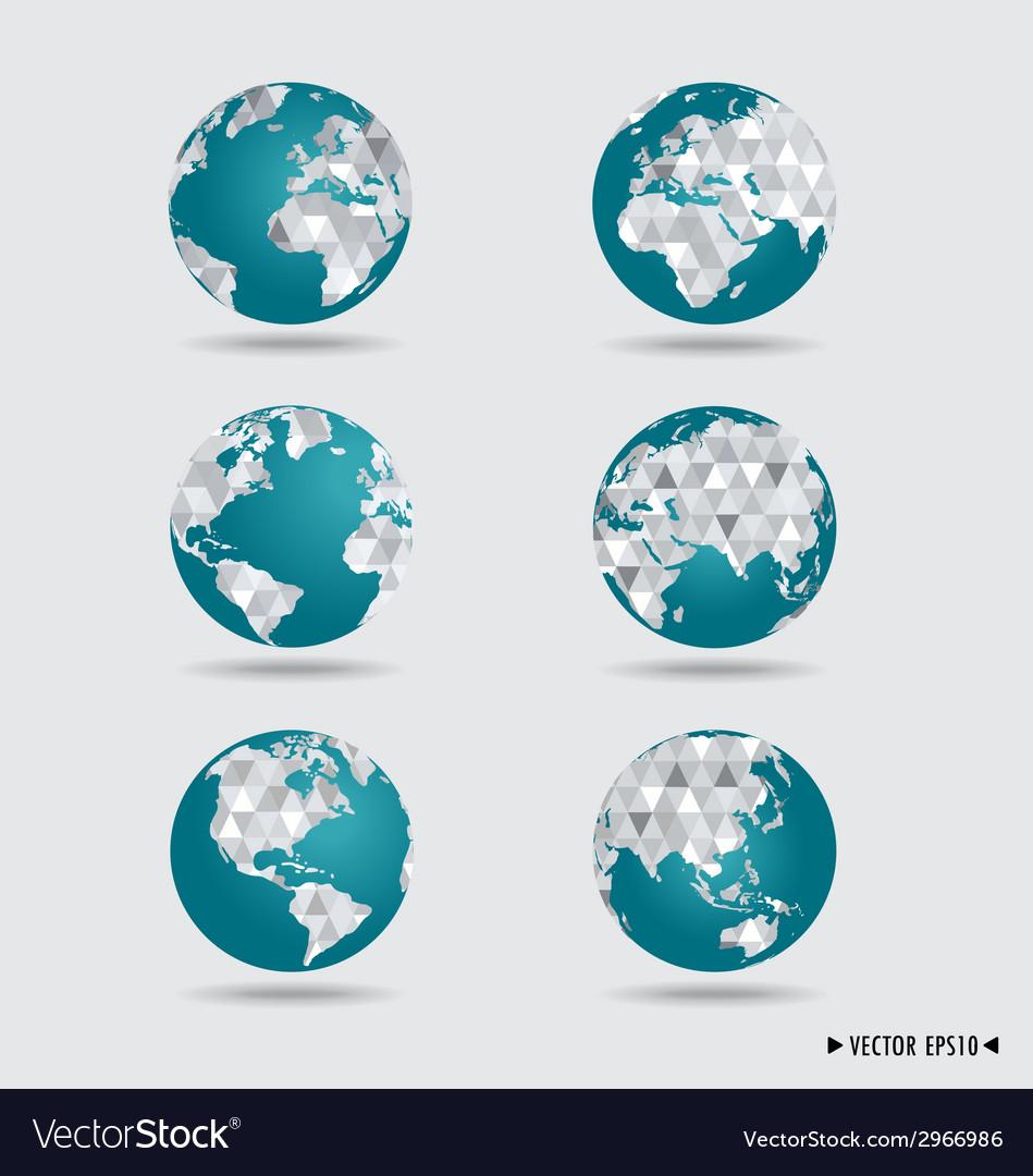 Modern globes vector | Price: 1 Credit (USD $1)