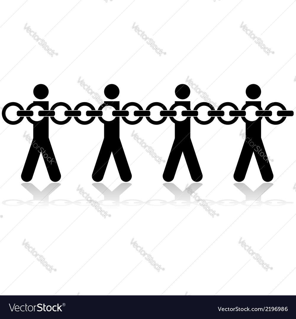 People chained vector | Price: 1 Credit (USD $1)