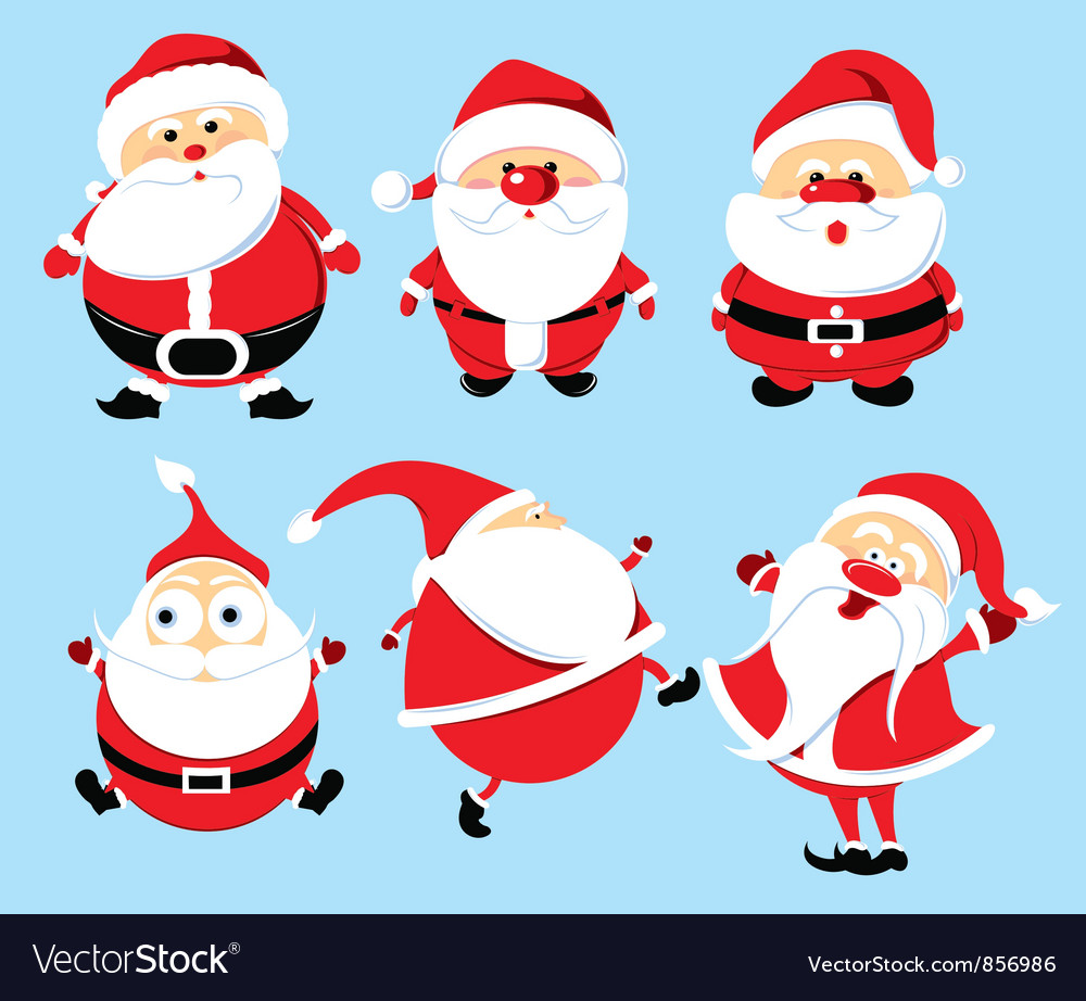 Santa claus set vector | Price: 3 Credit (USD $3)