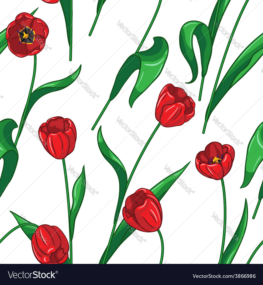 Tulip pattern big vector | Price: 1 Credit (USD $1)