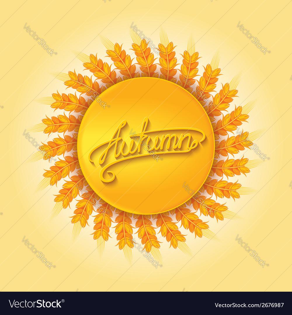 Autumn harvest design element vector | Price: 1 Credit (USD $1)