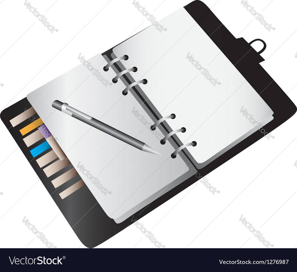 Blank notebook planner vector | Price: 1 Credit (USD $1)