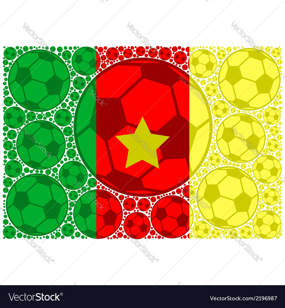 Cameroon soccer balls vector | Price: 1 Credit (USD $1)