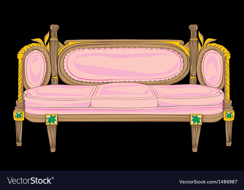 Classical style sofa vector | Price: 1 Credit (USD $1)