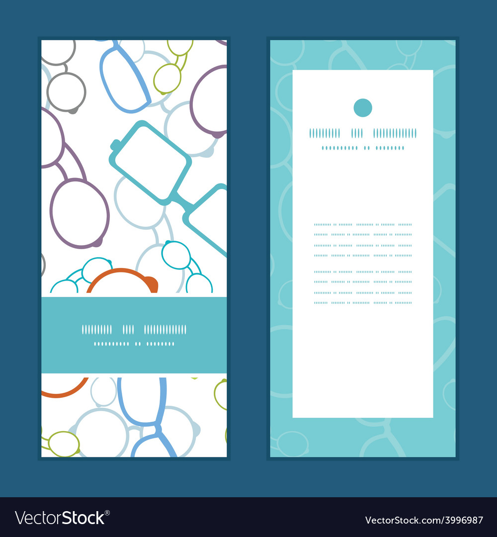 Colorful glasses vertical frame pattern vector | Price: 1 Credit (USD $1)