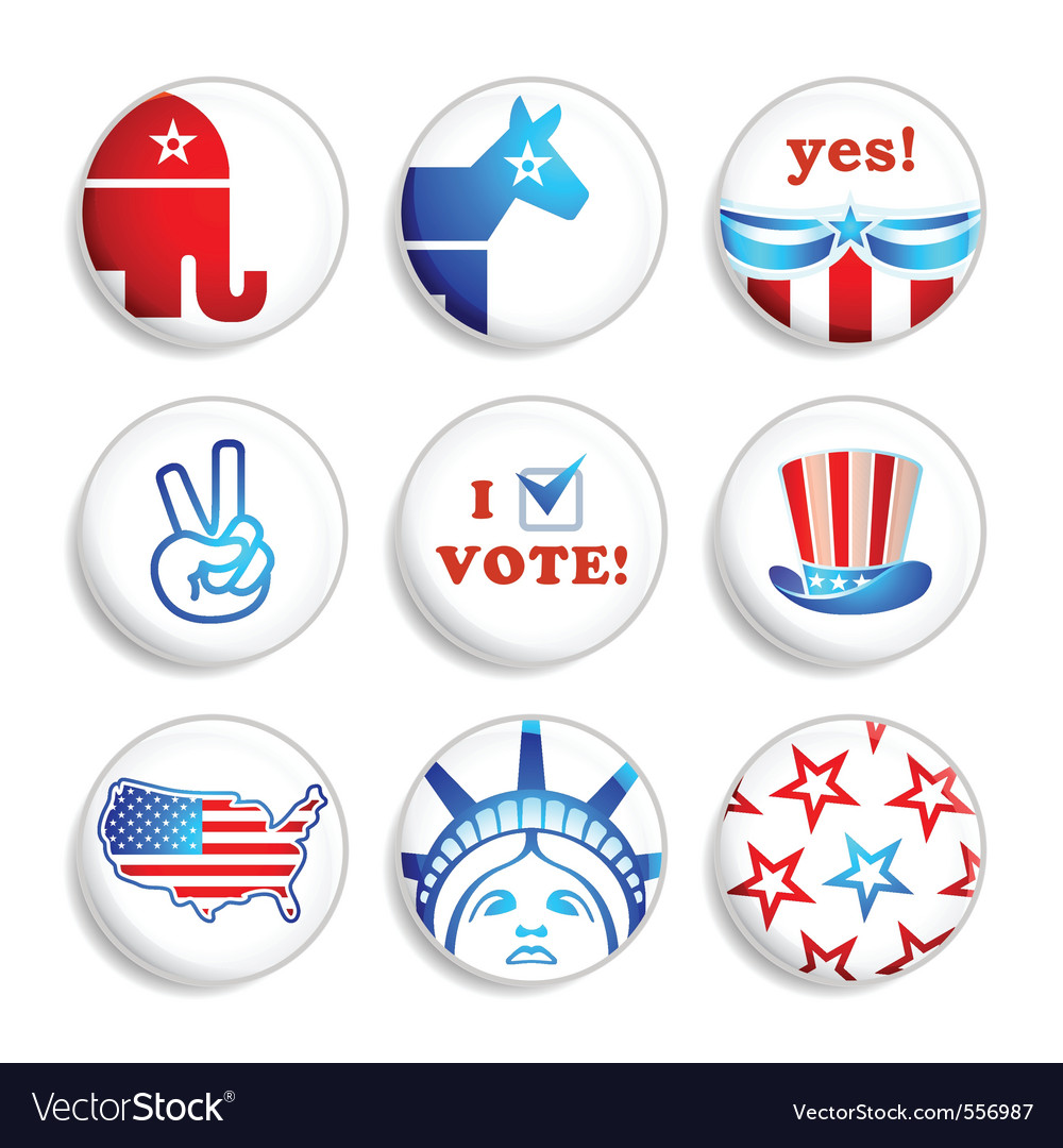 Election badges vector | Price: 1 Credit (USD $1)
