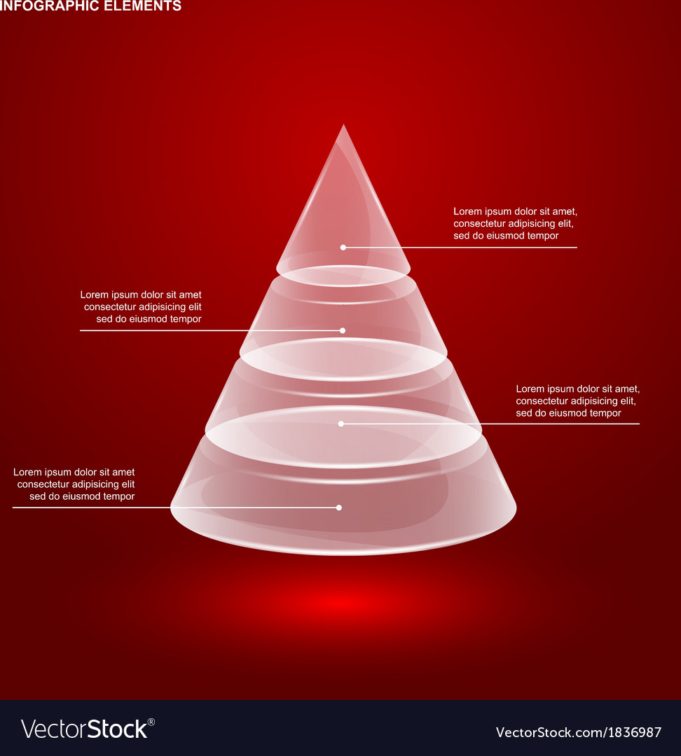 Glass pyramid infographic vector   Price: 1 Credit (USD $1)