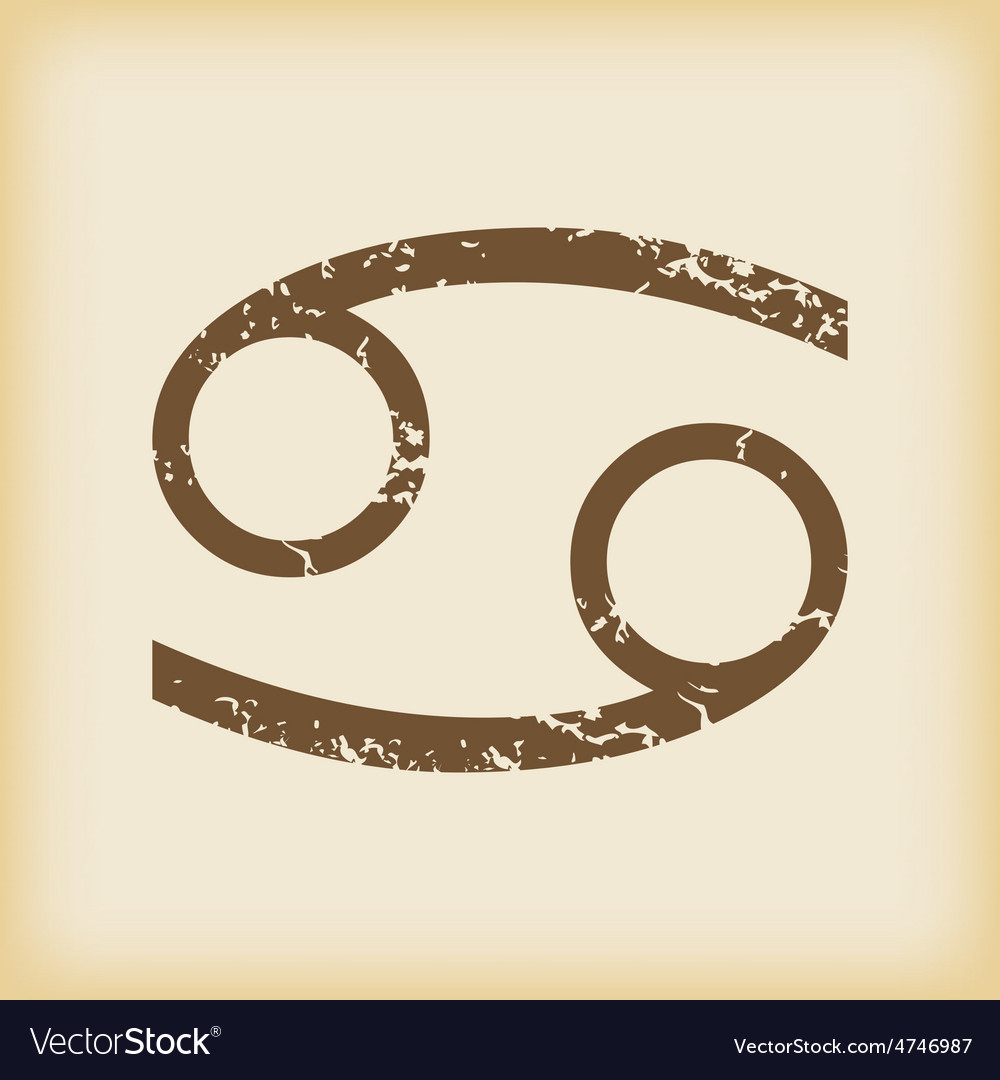 Grungy cancer icon vector | Price: 1 Credit (USD $1)