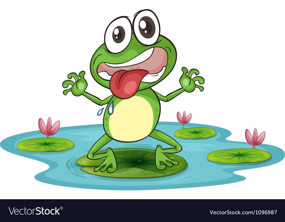 Happy cartoon frog vector | Price: 1 Credit (USD $1)
