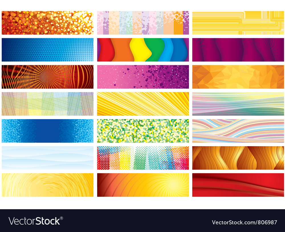 Horizontal banners vector | Price: 1 Credit (USD $1)
