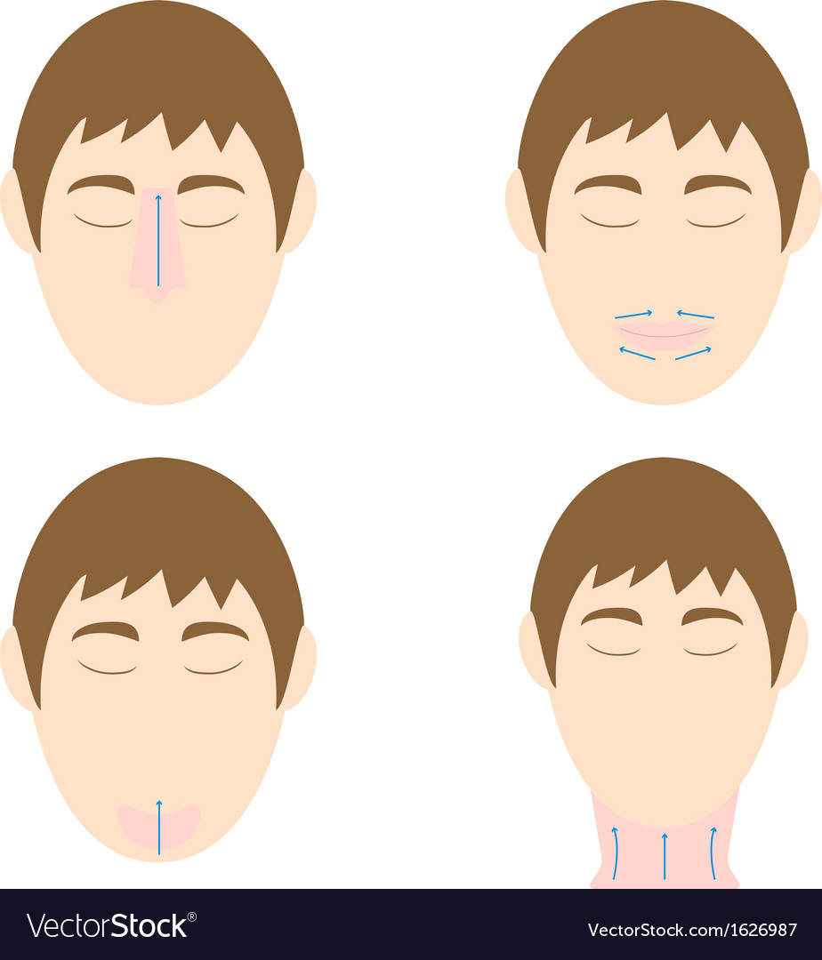 Man easy massage anti face wrinkle 2 vector | Price: 1 Credit (USD $1)