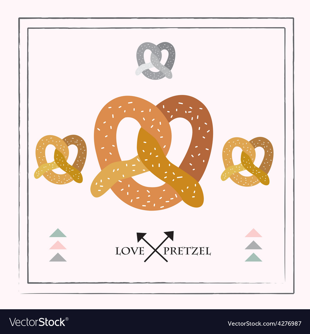 Pretzel set vector | Price: 1 Credit (USD $1)