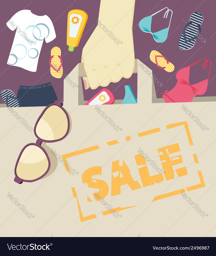 Seasonal summer sale vector | Price: 1 Credit (USD $1)