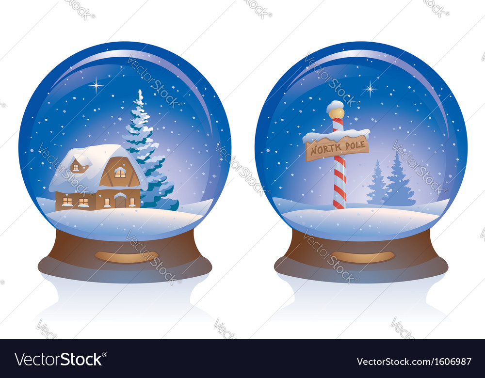 Snow globes vector | Price: 1 Credit (USD $1)