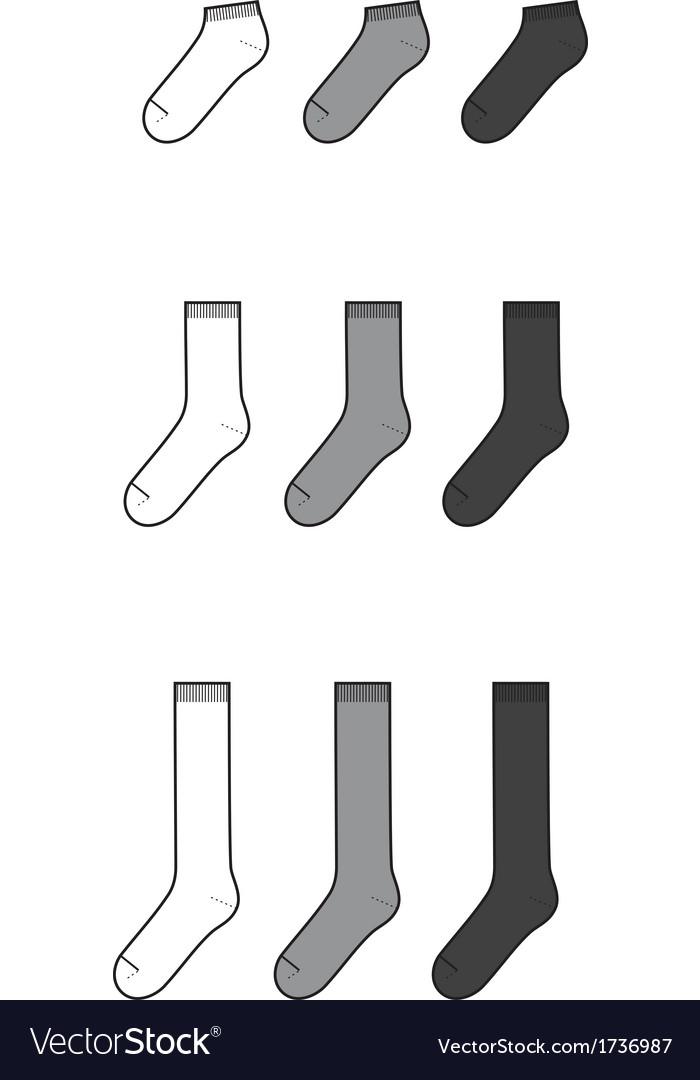Socks vector | Price: 1 Credit (USD $1)