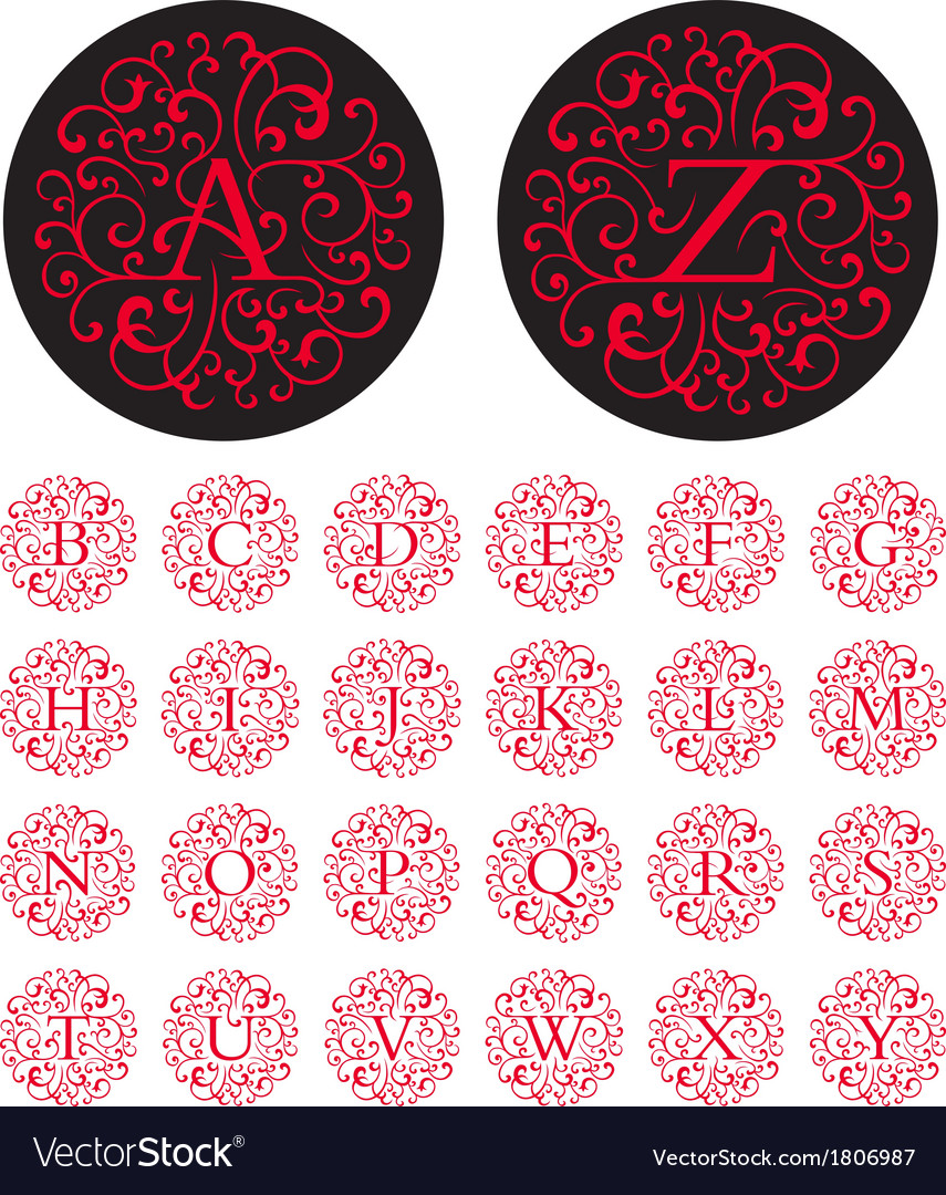 Swash alphabet vector | Price: 1 Credit (USD $1)