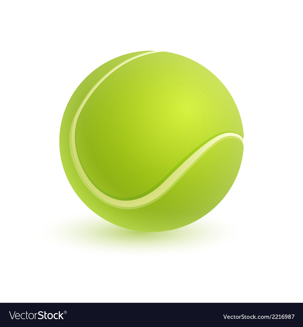 Tennis ball isolated on white vector | Price: 1 Credit (USD $1)