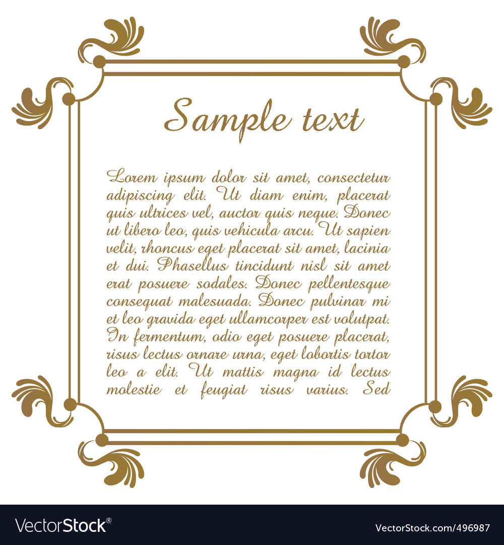 Text template with floral frame vector | Price: 1 Credit (USD $1)