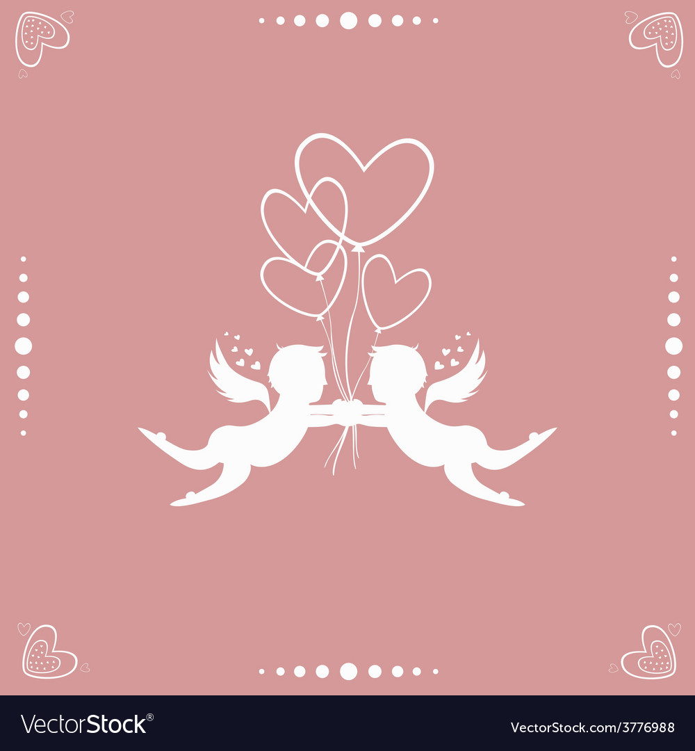 Angels with hearts vector | Price: 1 Credit (USD $1)