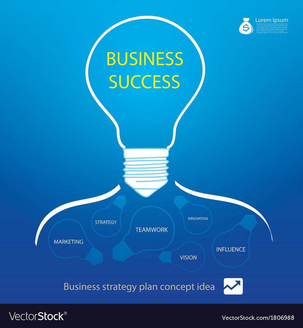 Business strategy in light bulb vector | Price: 1 Credit (USD $1)