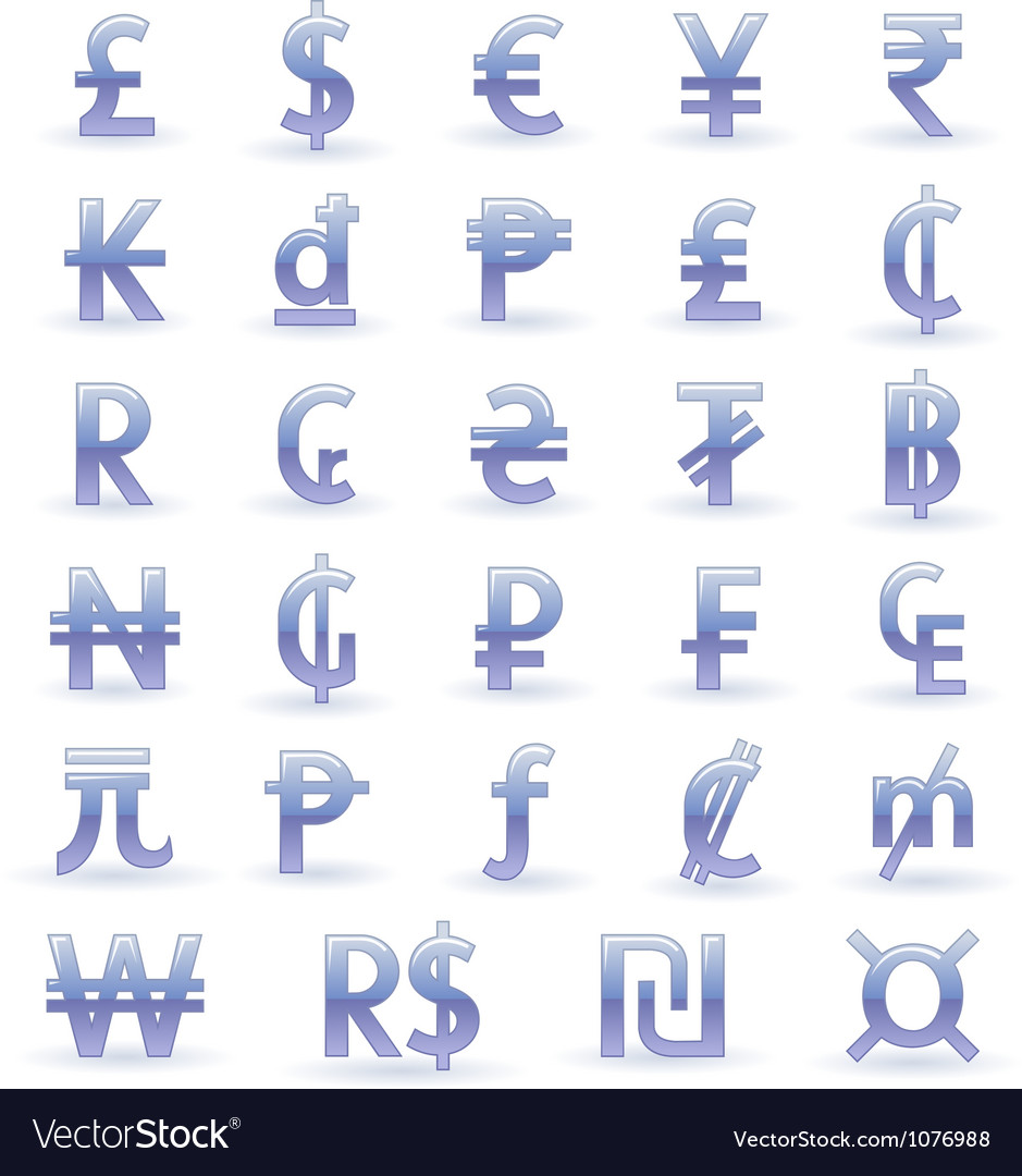 Currency symbols of the world vector | Price: 1 Credit (USD $1)