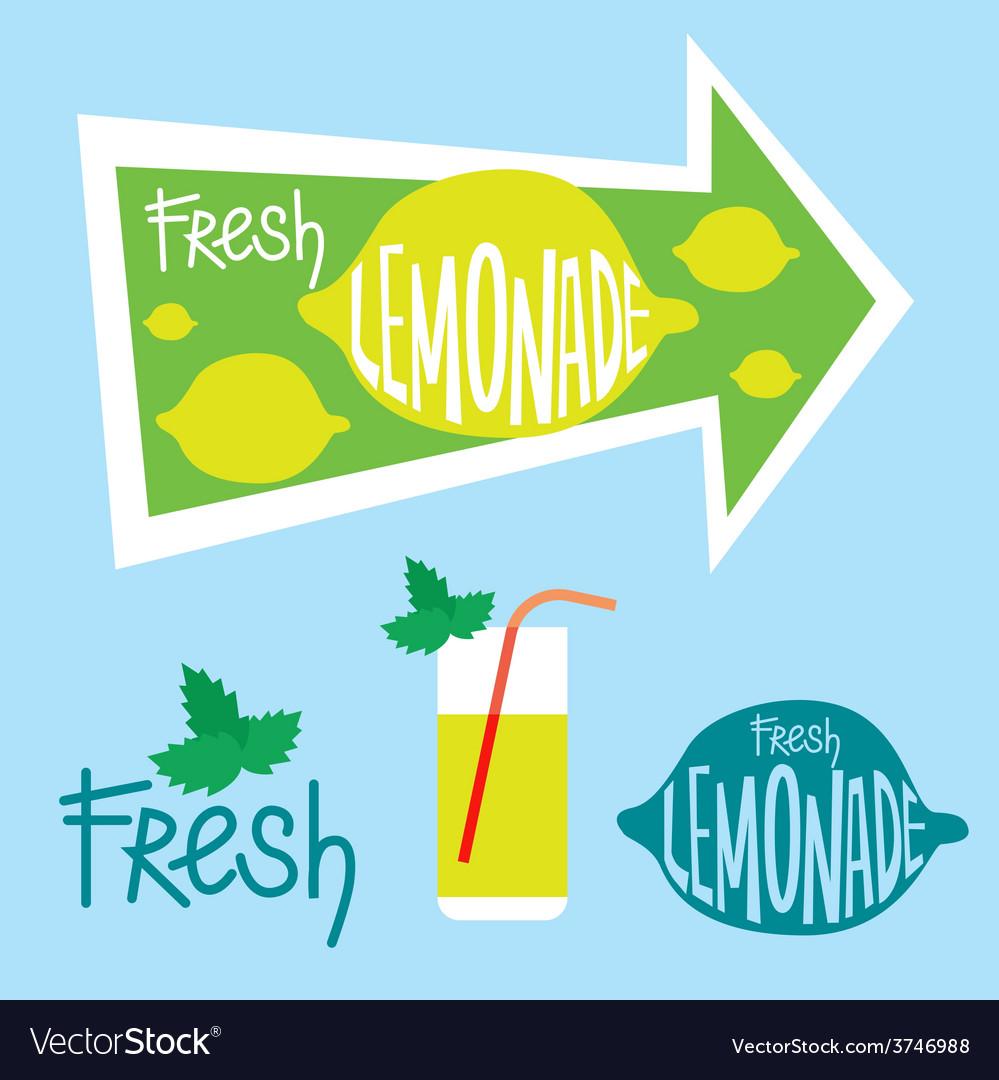 Fresh lemonade designs vector