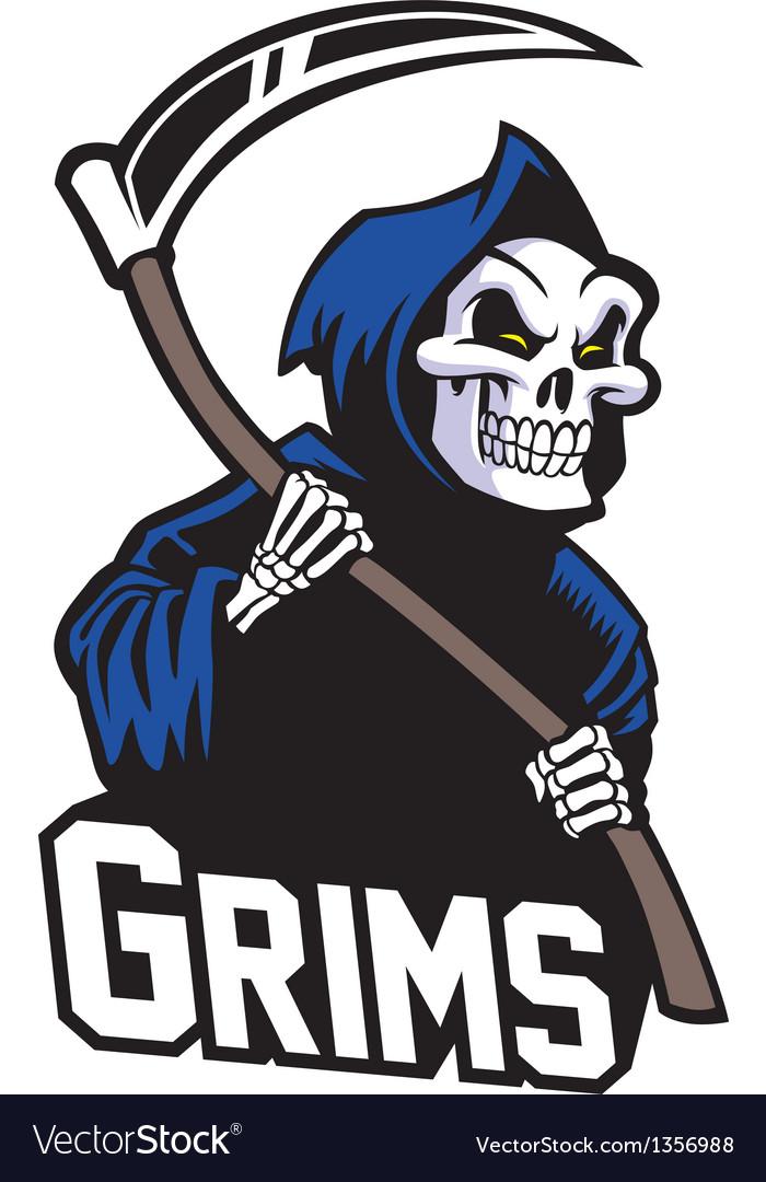 Grim reaper mascot vector | Price: 3 Credit (USD $3)