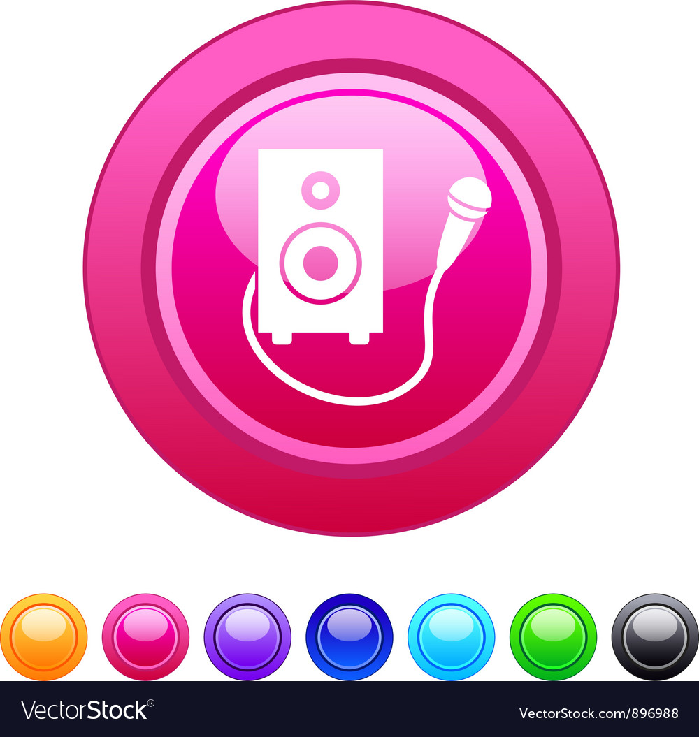 Karaoke circle button vector | Price: 1 Credit (USD $1)