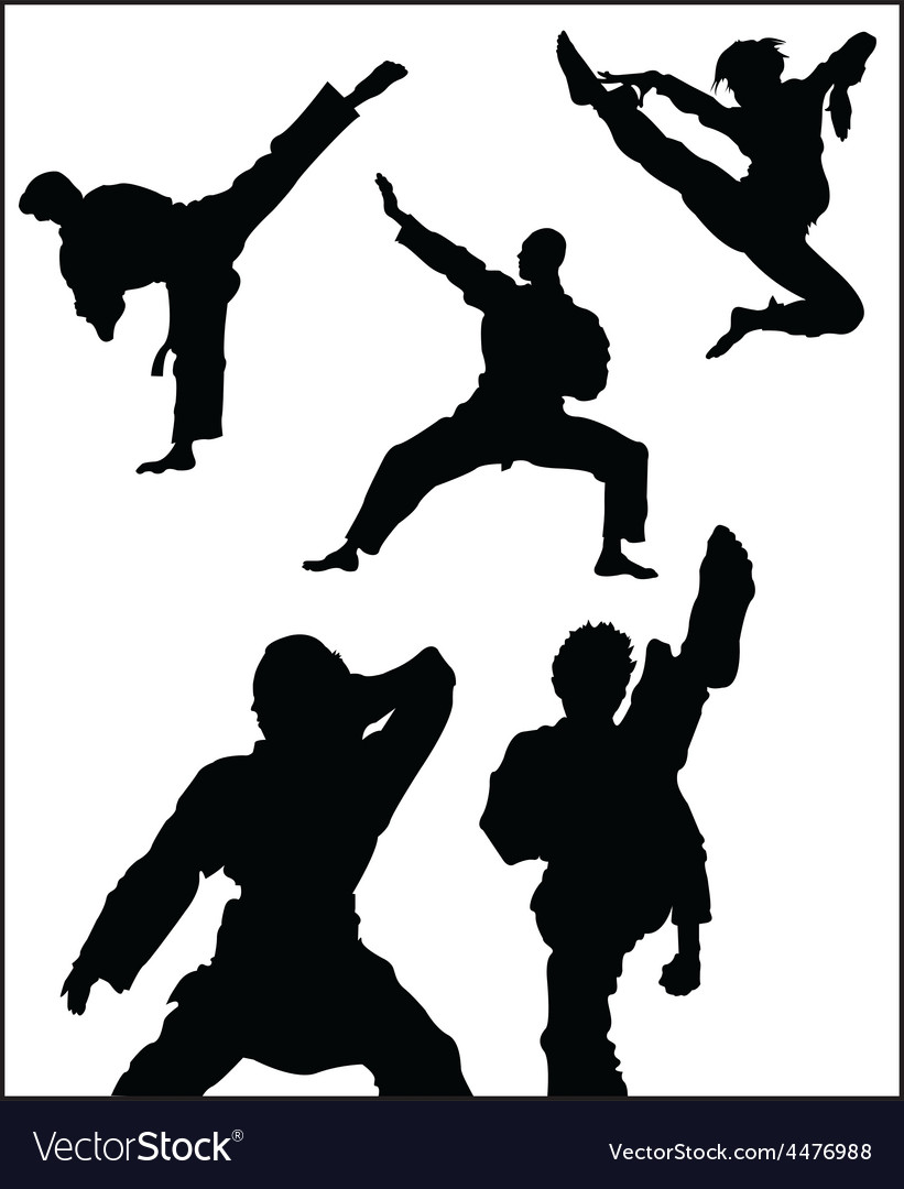 Karate pose vector | Price: 1 Credit (USD $1)