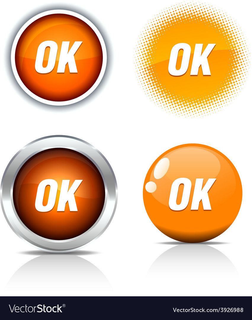 Ok buttons vector | Price: 1 Credit (USD $1)