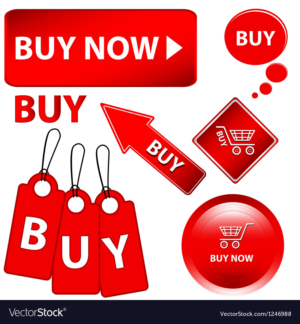 Red buy set vector | Price: 1 Credit (USD $1)