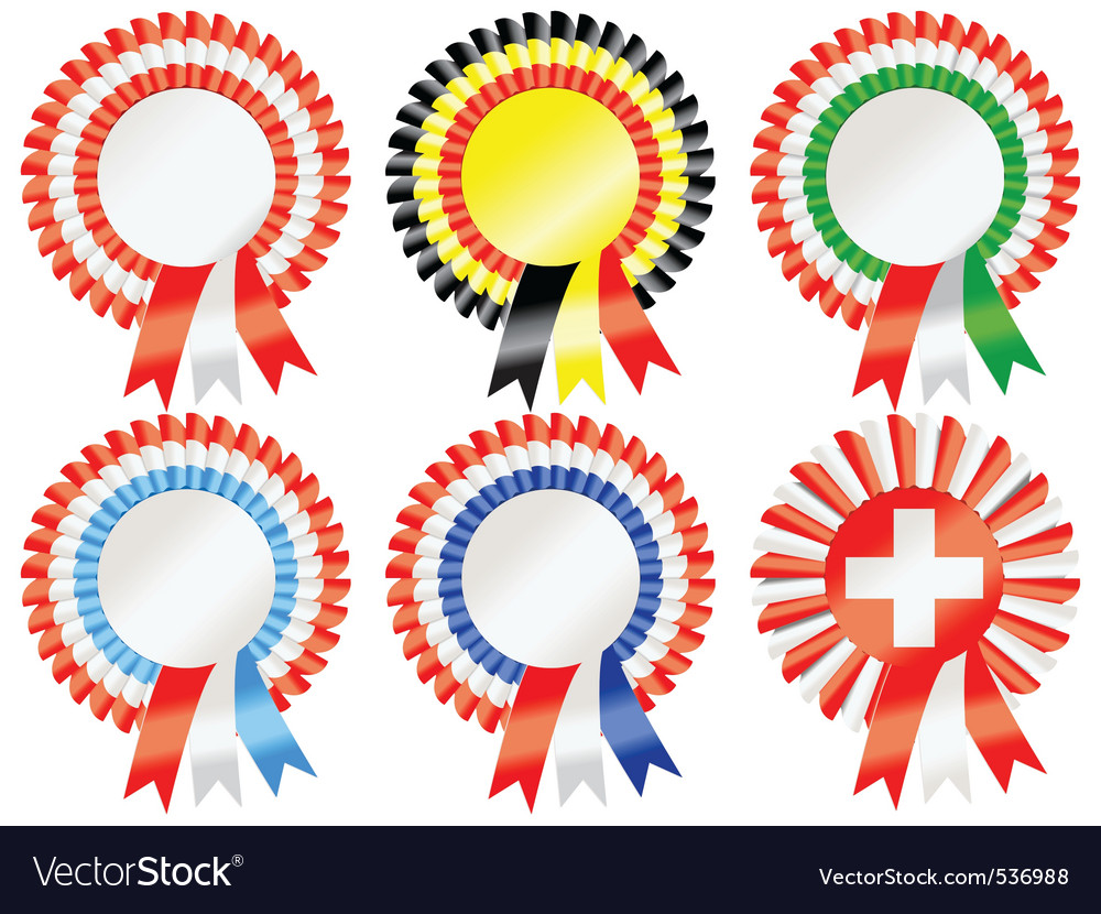 Rosettes to represent european countries including vector | Price: 1 Credit (USD $1)