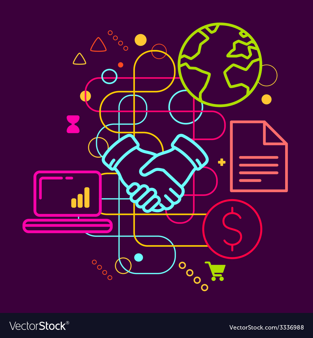 Symbols of business meetings and cooperation on vector | Price: 3 Credit (USD $3)
